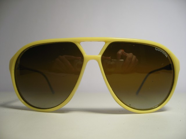 carrera 5425 1980s vintage sunglasses yellow aviator. Black Bedroom Furniture Sets. Home Design Ideas