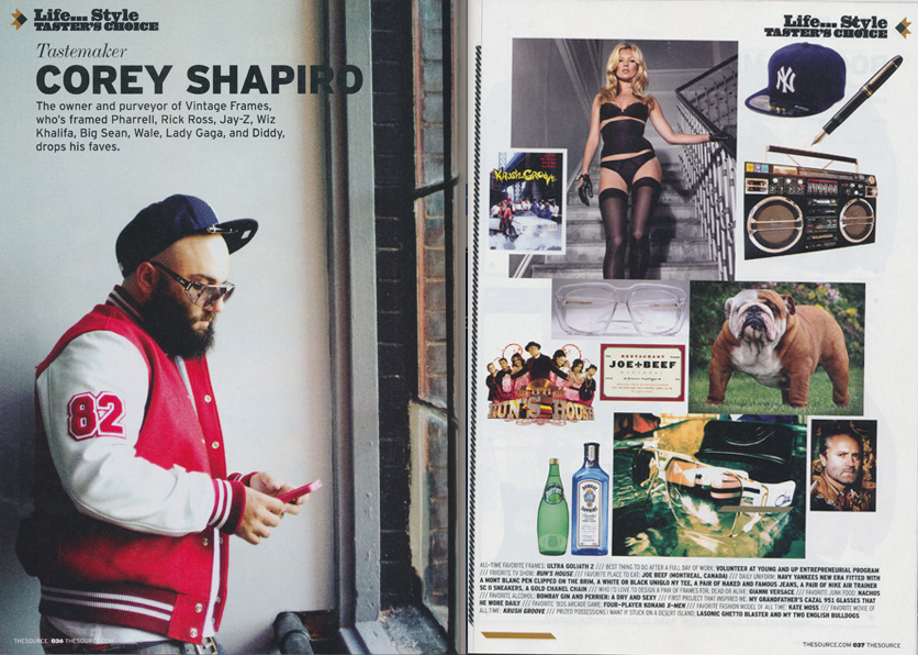 Corey Shapiro & Vintage Frames Company In Source Magazine
