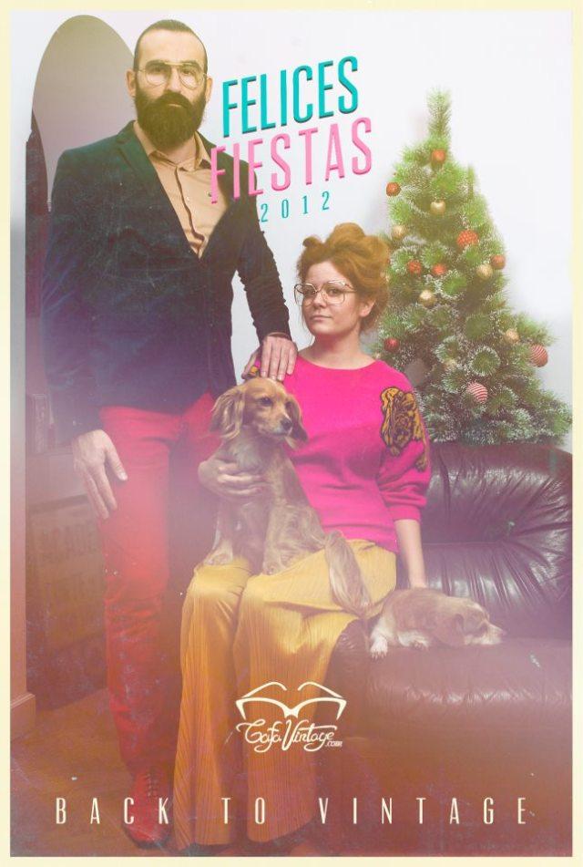 gafa vintage merry christmas