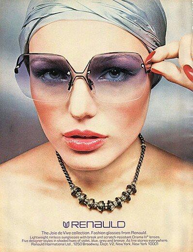 Renaud vintage sunglasses ad