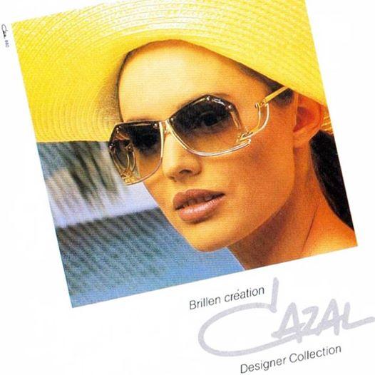 Cazal vintage sunglasses advertisement 1980s