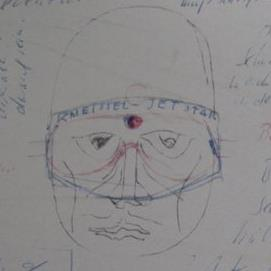 serge kirchhofer 1960 ski mask hand draft carrera austria