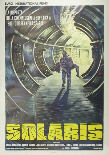 Solaris movie poster 60s 70s logo art