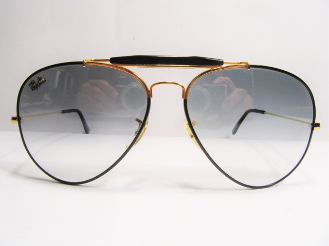 RAY BAN Outdoorsman precious metal black bausch & lomb usa vintage sunglasses