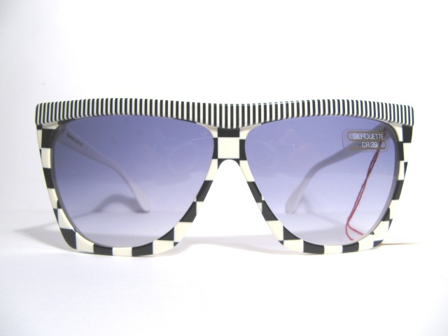 silhouette 3040 black and white vintage sunglasses