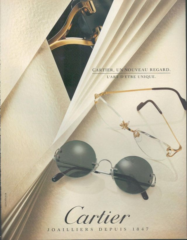 cartier paris vintage sunglasses advertisement