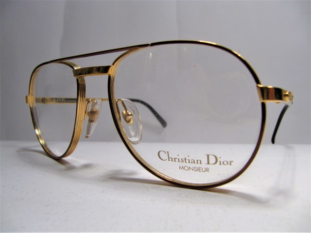 Christian Dior 2448 monsieur bronze golden 1980s vintage sunglasses frame