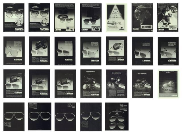 PORSCHE DESIGN by Carrera vintage ads 1980s sunglasses Lari Saukko