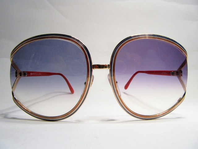 Christian Dior 2475 1980s vintage sunglasses red white blue
