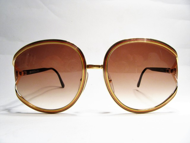 Christian Dior 2475 1980s vintage sunglasses black red gold