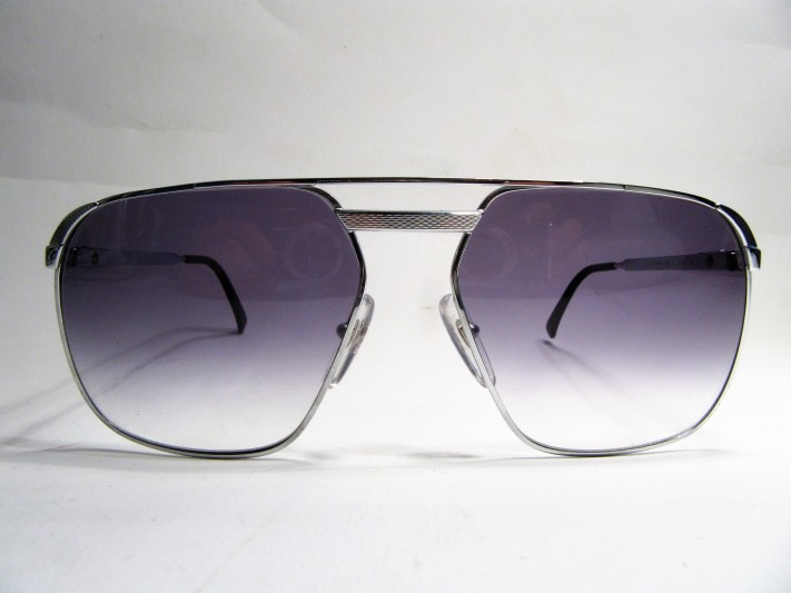 Dunhill London 6011 silver gradient blue 1980s vintage sunglasses made in Austria
