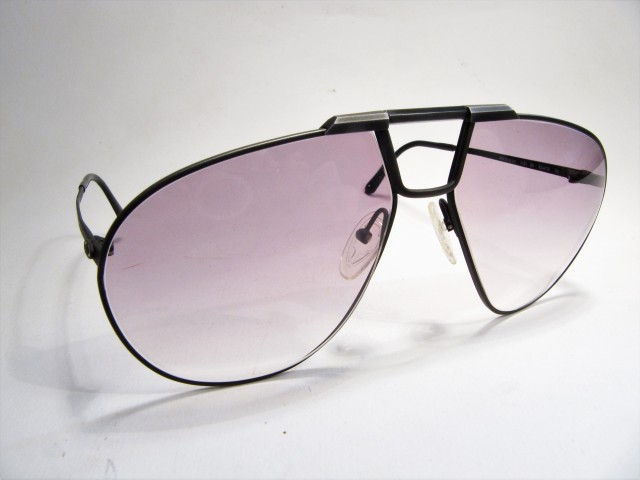 Christian Dior 2151 Monsieur 1980s matt black vitage sunglasses made in Austria