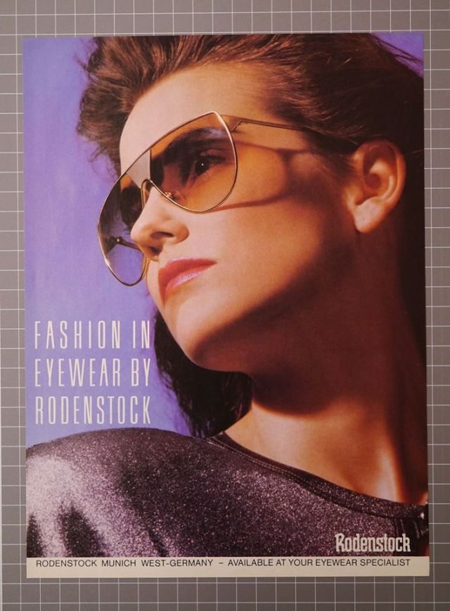 Rodenstock Supersonic 1755 ad from US Vogue 1987 vintage sunglasses ad