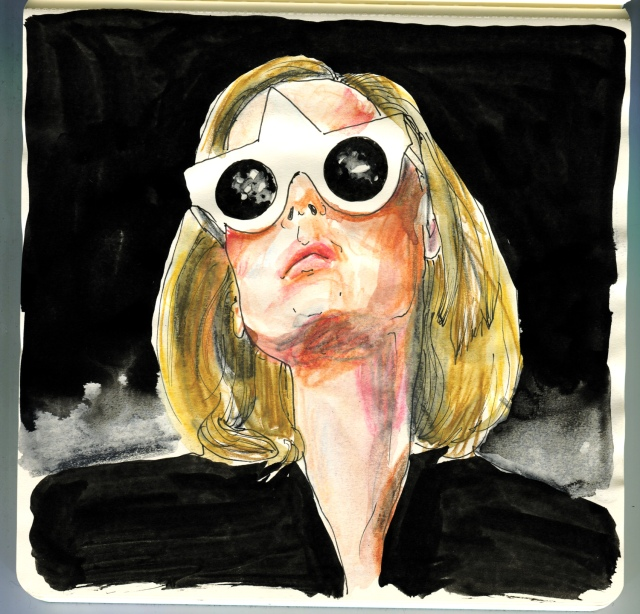 FakbyFak sunglasses artwork frames Roisin Murphy by Dimitry Chaika
