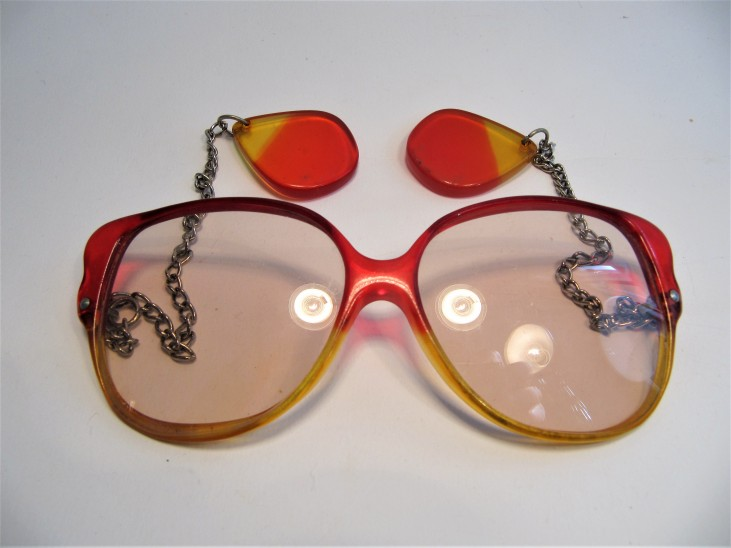 1970s vintage sunglasses frame multi coloured lady
