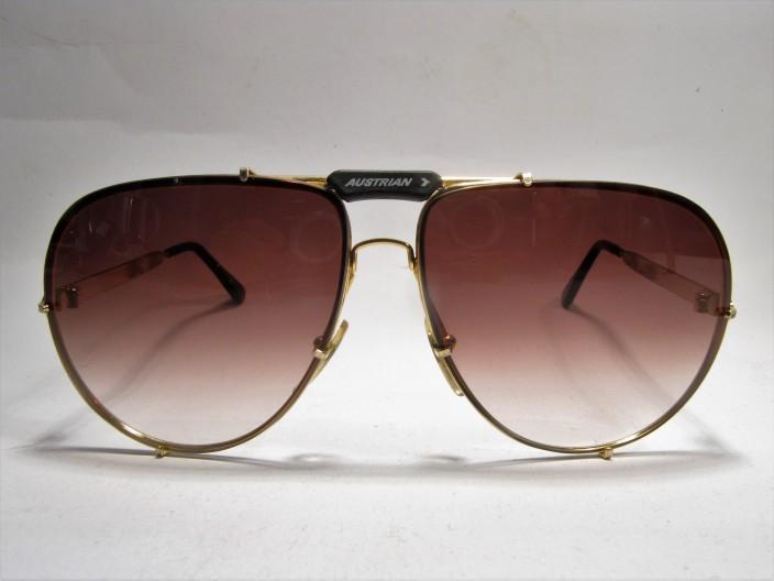 Austrian Airlines Commander 1980 aviator vintage sunglasses