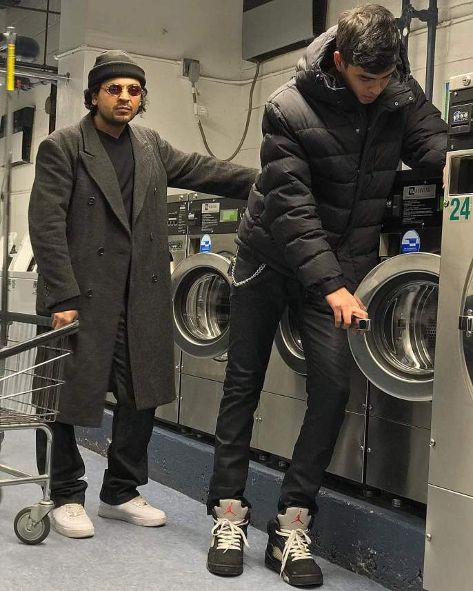 Arfan Ghani laundry day New York City wearing Jean Paul Gaultier 55-3175 vintage sunglasses