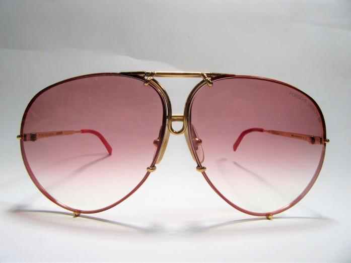 Porsche Design by CARRERA 5621 gold red 1980s vintage sunglasses made in Austria