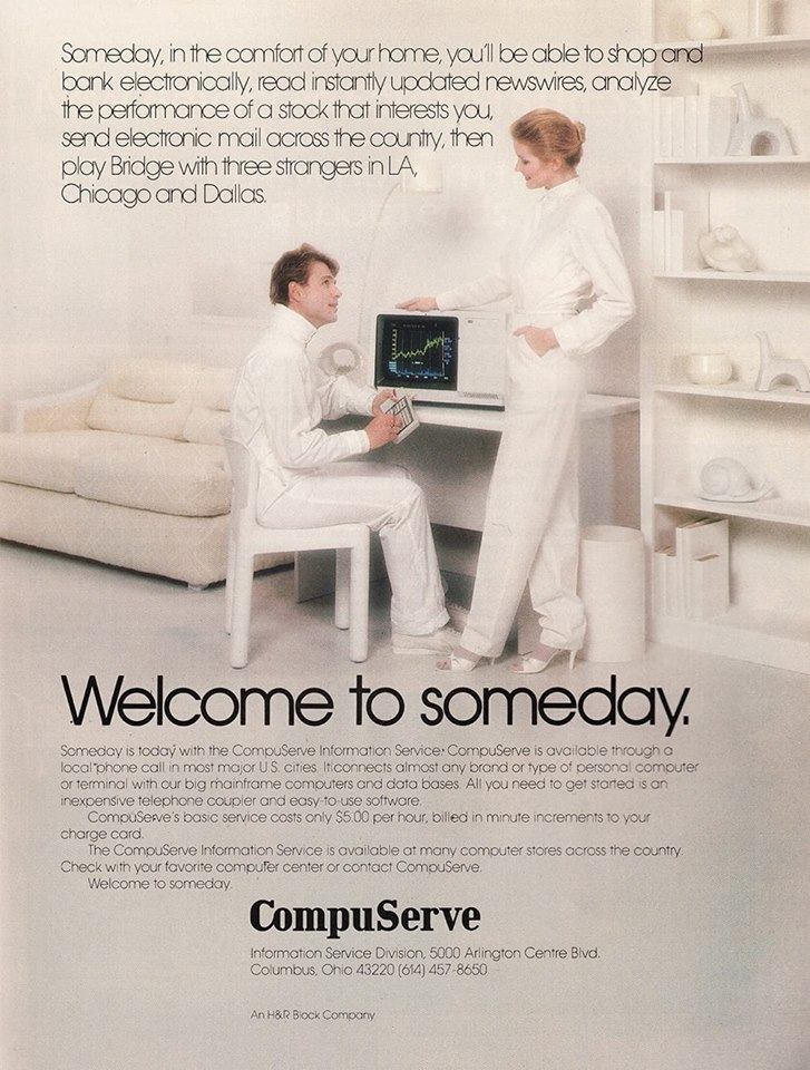 CompuServe 1980s vintage ad